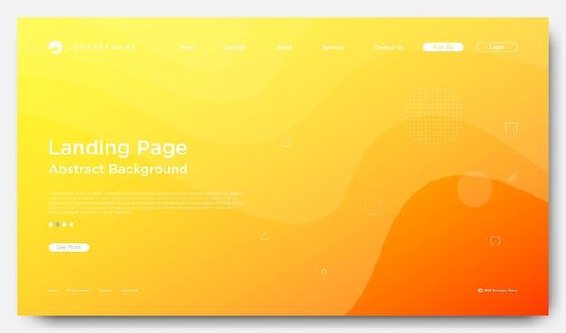 Website bestemmingspagina achtergrond, moderne abstracte stijl