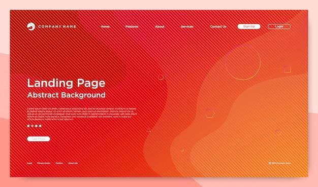 Website bestemmingspagina achtergrond
