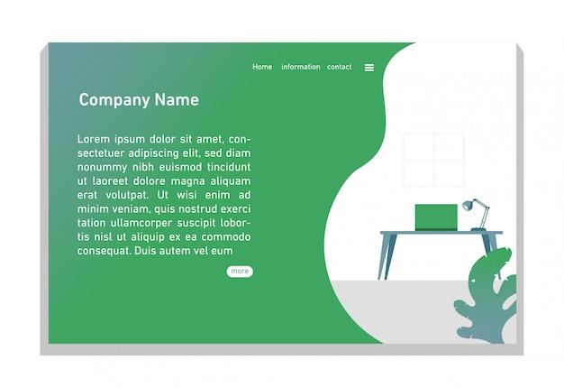 Website bestemmingspagina, groene uitstraling