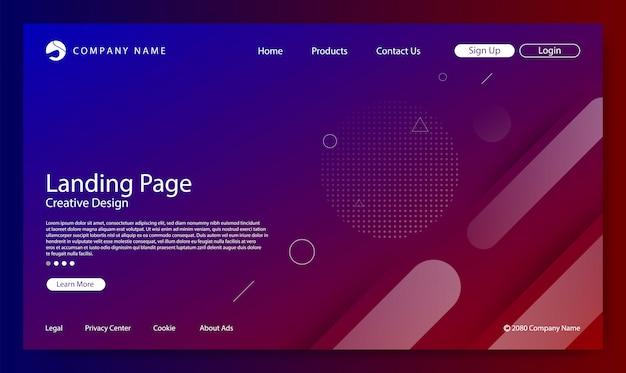 Website bestemmingspagina kleurverloop achtergrond