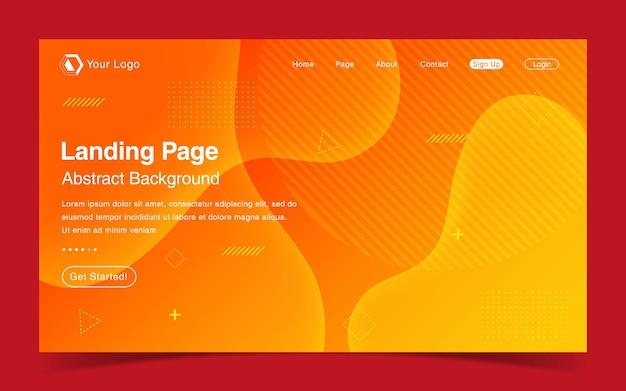 Website-bestemmingspagina met abstracte achtergrond