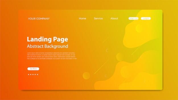 Website-bestemmingspagina met samenstelling van vloeibare vormen