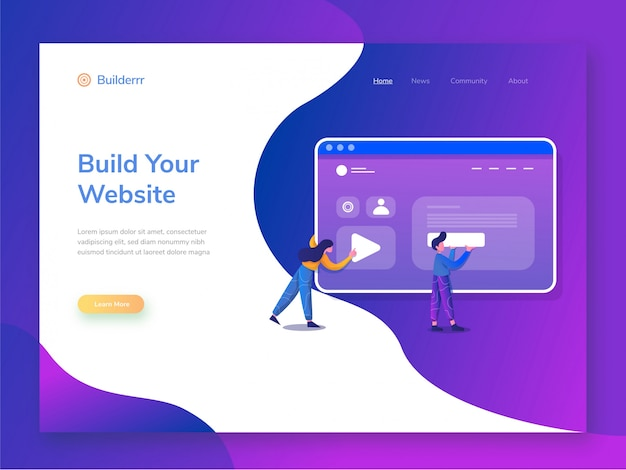Website builder illustratie
