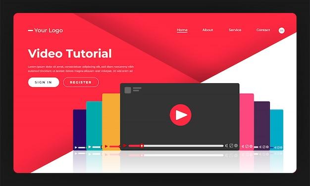 Website concept video-zelfstudie. illustratie.