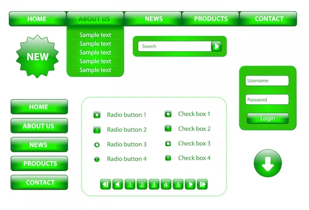 Website designelementen