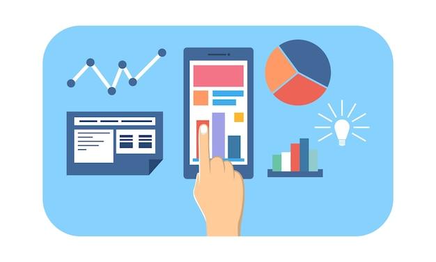 Website en mobiel analytics-concept