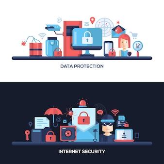 Website gegevens veiligheid, beveiliging en bescherming header