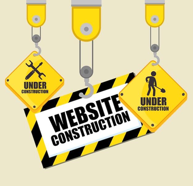Website in aanbouw achtergrond