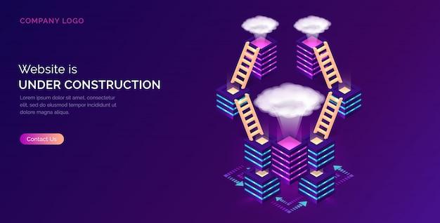 Website in aanbouw, onderhoudsfout