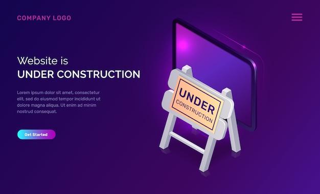 Website in aanbouw, onderhoudswerkzaamheden fout