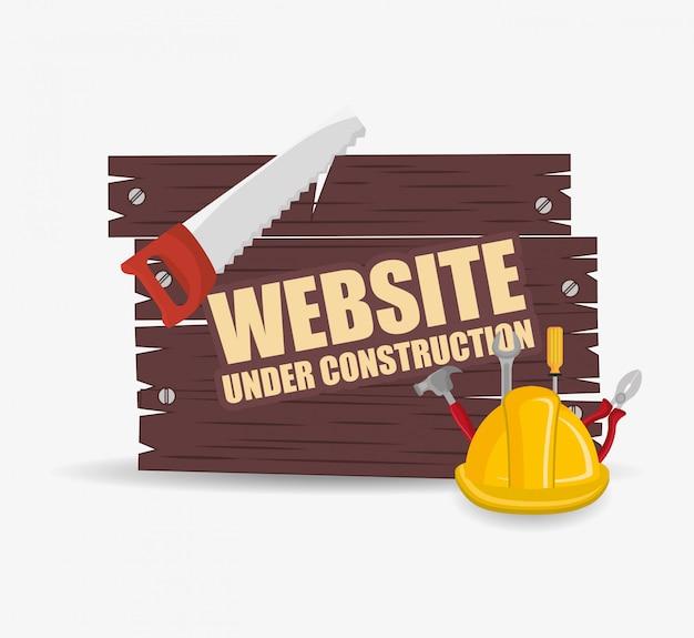 Website in aanbouw ontwerp