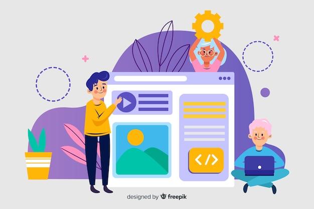 Website-instelling bestemmingspagina concept
