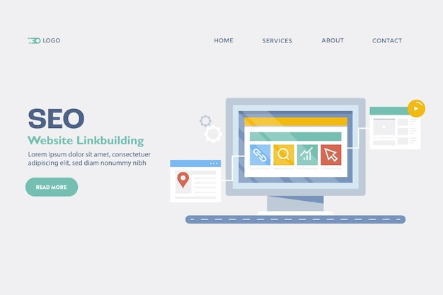 Website linkbuilding concept