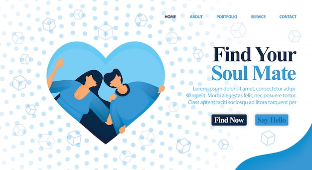 Website matchmaker, vriend en plan je bruiloft.