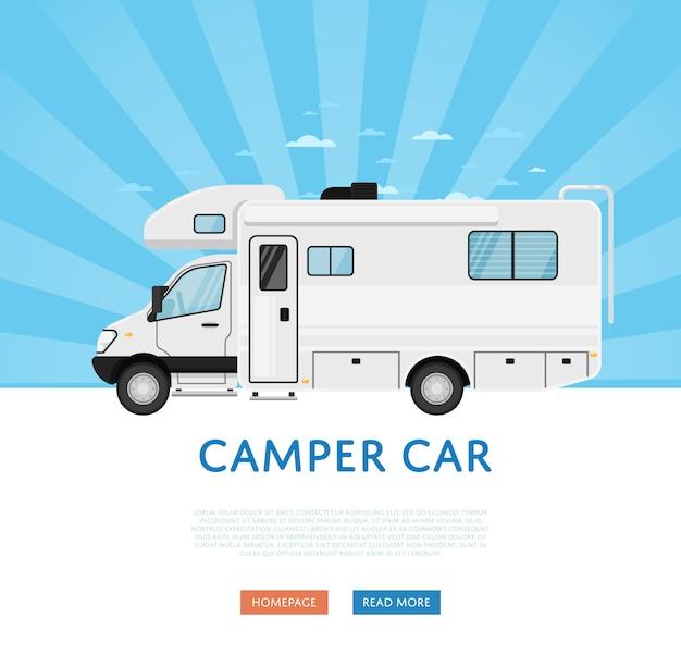Website met camper