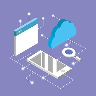 Website met smartphone en dataservice verbinden