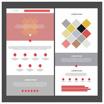 Website met twee pagina's en verschillende koptekstmodellen.