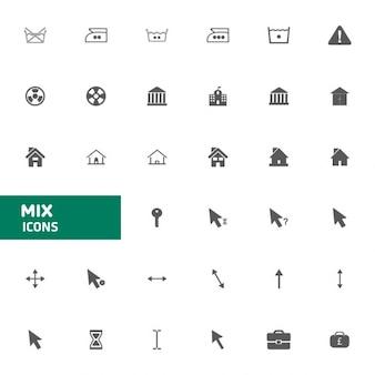 Website mix vector pictogrammen instellen vector illustratie