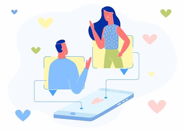 Website of mobiele applicatie voor dating of chatten