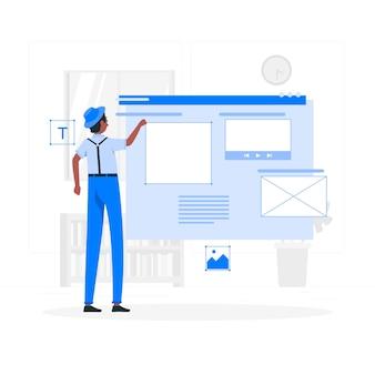 Website ontwerper concept illustratie