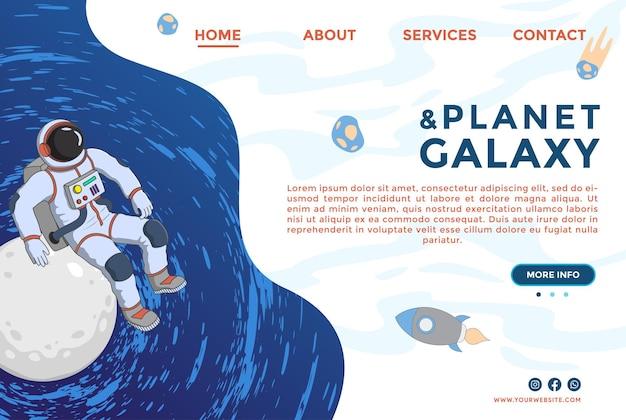 Website-ontwerpsjablonen modern vectorillustratieconcept van webpagina-ontwerp