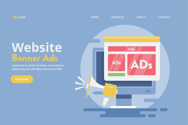 Website reclame concept
