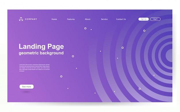 Website sjabloon met geometrische vorm achtergrond