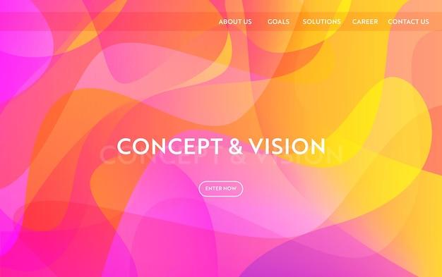 Website sjabloon modern plat ontwerp. webpagina-indeling bestemmingspaginaconcept, mobiele app, webbanner. vector illustratie