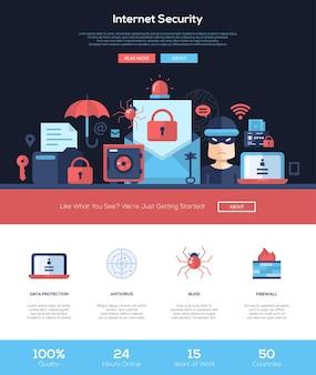Website sjabloon voor internetbeveiligingsdiensten