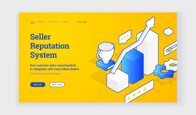 Website van het reputatiesysteem van de verkoper