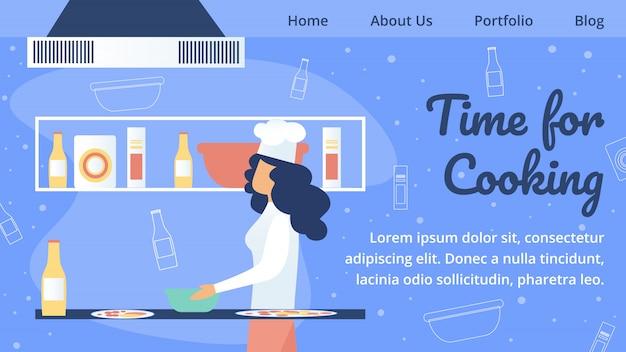 Website van restaurant, cafetaria of pizzeria