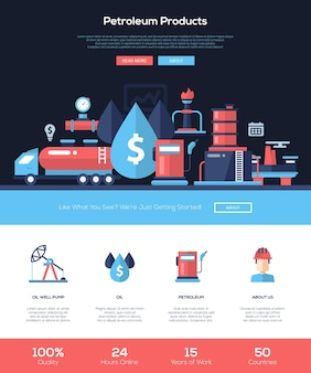 Website voor aardolieproducten, olie- en gasindustrie