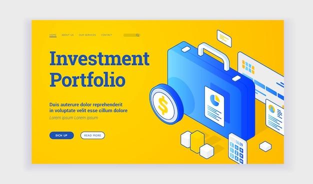 Website voor beleggingsportefeuille
