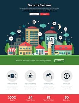 Website voor beveiligings- en alarmsysteemdiensten