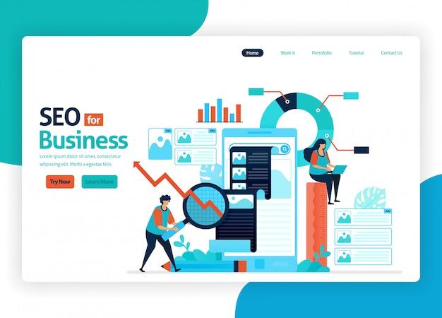 Website voor marketingoptimalisatie met seo.