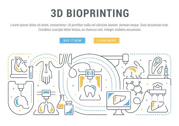 Websitebanner of bestemmingspagina van 3d-bioprinting.