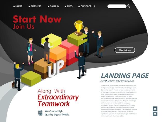 Websitemalplaatje voor zakelijk succes