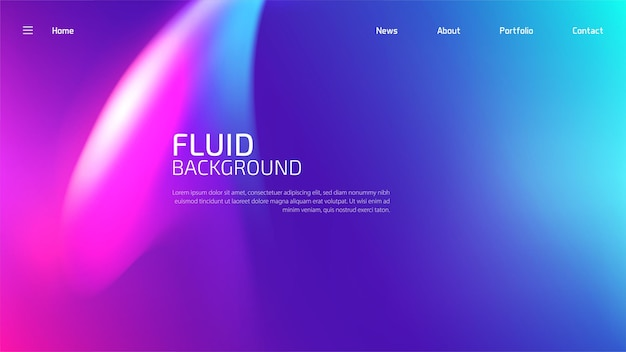 Websjabloon lay-out met abstract ontwerp