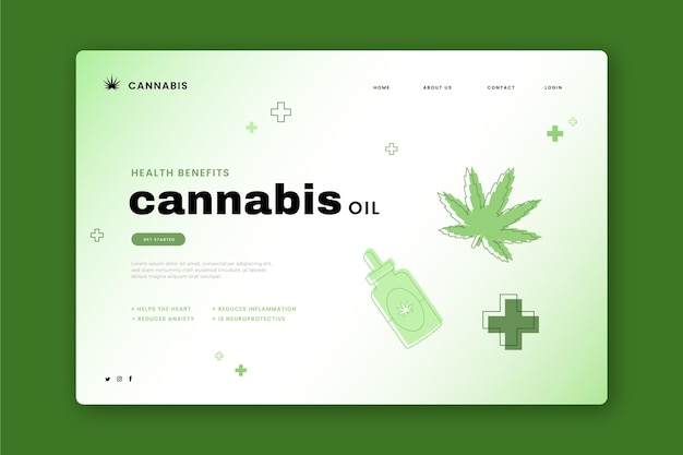 Websjabloon voor cannabisolie