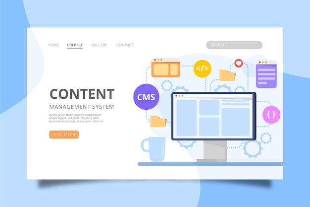 Websjabloon voor contentmanagementsysteem