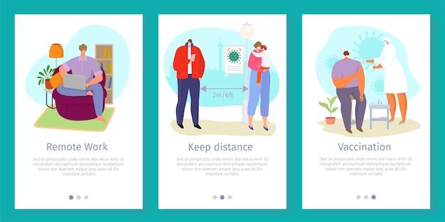 Websjabloon voor coronavirus-smartphone
