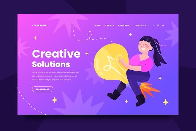 Websjabloon voor creatieve oplossingen