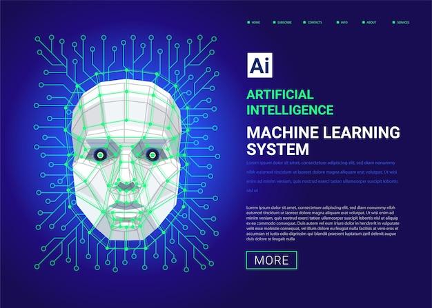 Websjabloon voor machine learning-systeem