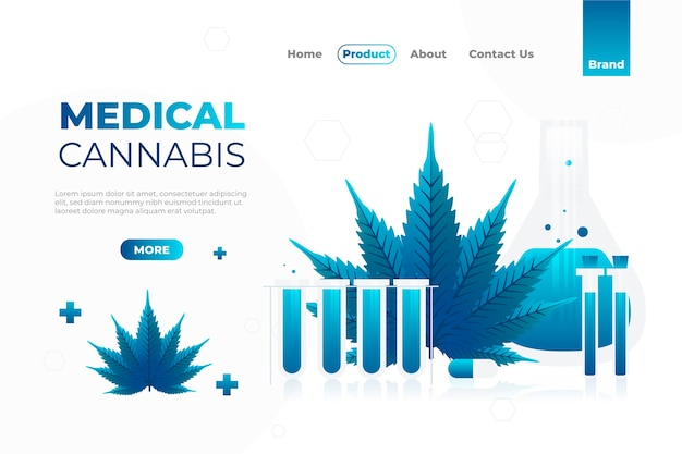 Websjabloon voor medicinale cannabis