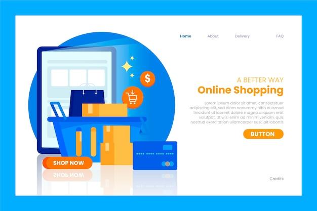 Websjabloon voor online winkelen