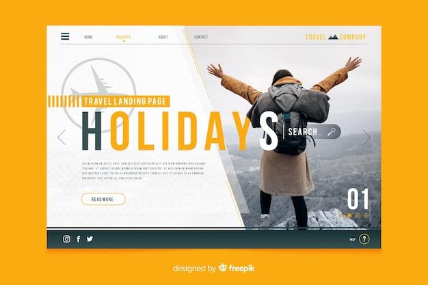 Websjabloon voor reizen paginaontwerp