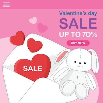 Websjabloon voor valentijnsdagverkoop