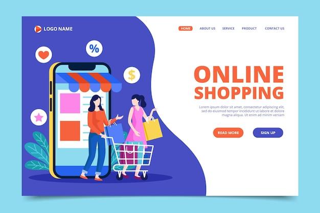 Websjabloon winkelen