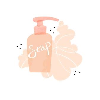Websoap dispenser handen wassen zelfzorg vectorillustratie