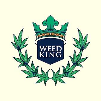 Weed king logo illustraties